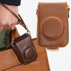men's leather camera bag