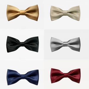 Silky Smooth Satin Bow Tie