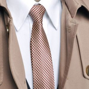 Luxurious Gold Houndstooth Necktie