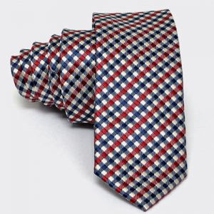 Modern Checkered Slim Dress Tie