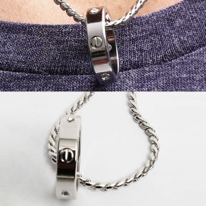 Polished Cubic Ring Necklace