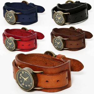 Leather Dual Strap Cuffs Watch-Watch 30