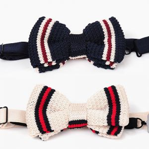 Fashionable Stripe Knit Tie-Tie 15