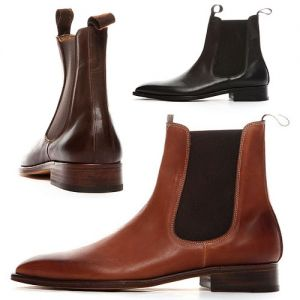 Handcrafted Kipskin Chelsea Ankle Boots-Shoes 59