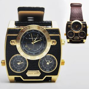 Oversized Retro Gold Frame-Watch 34