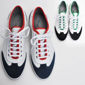 Hand-made Punching Kipskin Sneakers-Shoes 98