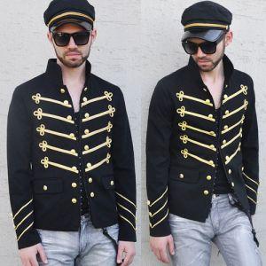 Gold Embroidery Slim Napoleon-Jacket 16