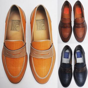 Luxurious Braided Leather Loafer-Shoes 111