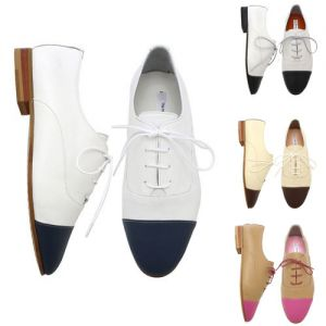 Euro Elegance Kipskin Contrast Flat-Shoes 116