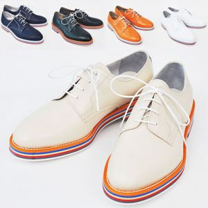 Vibrant Stripe Deco Runway Oxford-Shoes 124