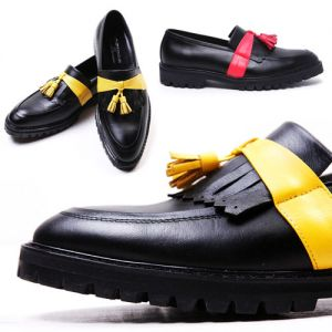 Designer Neon Tassel Kipskin Loafer-Shoes 127
