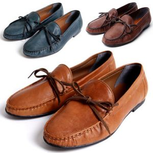 Romantic Hand-made Lambskin Loafer-Shoes 132