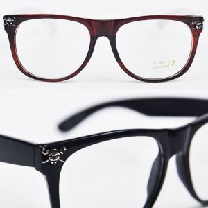 Funky Skull Accent Glasses-Glasses 11