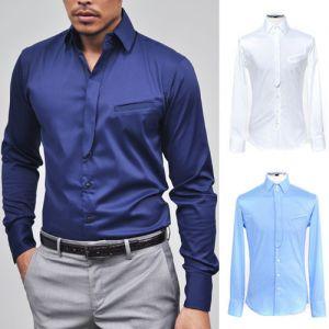Lux Designer Layered Silk Blend Button Down-Shirt 67