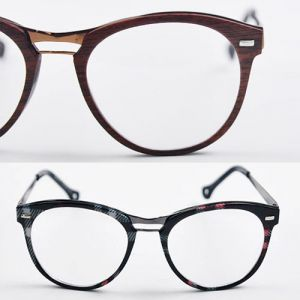 Chic Wood & Checker Textured-Glasses 14