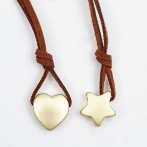 Romantic Gold Star & Heart Charm-Necklace 109