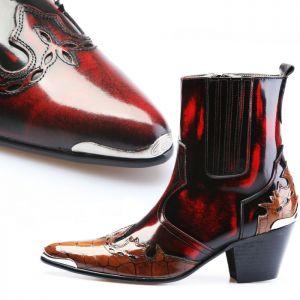 7cm Kill Heel Cowboy Western Boots-Shoes 236