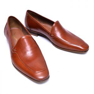 X Stitching Kipskin Loafer-Shoes 706