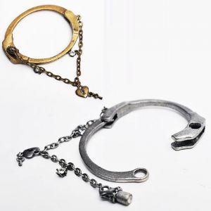 Vintage Silver Handcuffs Bracelet-Bracelet 43