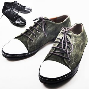 Hand-made Contrast Suede Sneakers-Shoes 154
