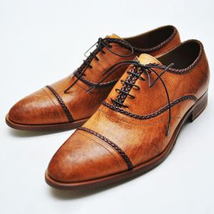 Distressed Braided Trim Oxford-Shoes 160