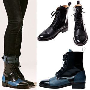 Contrast Point Runway Fashion Boots-Shoes 162