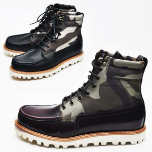 Military-edge Camouflage Highneck Boots-Shoes 164