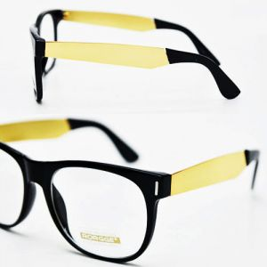 Lux Gold Metal Contrast Temple Retro-Glasses 17