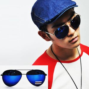 Cool Summer-Must Mirror Blue Aviator-Sunglasses 51