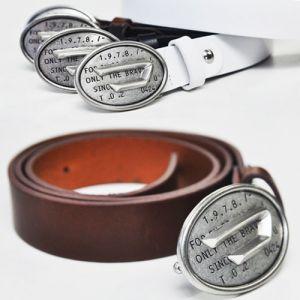 Street-edge Vintage D Buckle Cowhide Belt-Belt 79