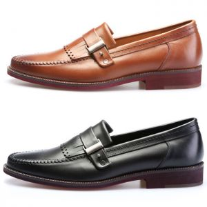 Belted Buckle Kilty Moccasin Loafer-Shoes 211