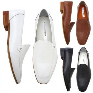 Matt Pull-Up Leather Minimal Loafer-Shoes 212