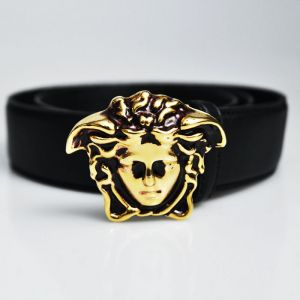 Designer Lux Edge Gold Medusa-Belt 86