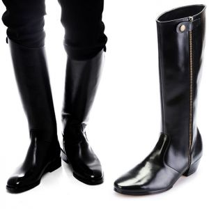 Polished Long Rebel Rider Boots-Shoes 230