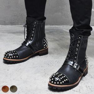 Desginer Monster Stud Buckle Boots-Shoes 268