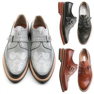 Premium Buckle Wingtip Oxford-Shoes 244