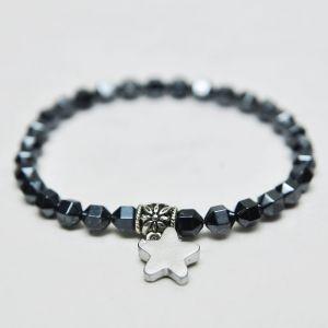 Mini Star Charm Shiny Silver Beads-Bracelet 136