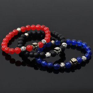 Agate Onix Gemstone Beads-Bracelet 148