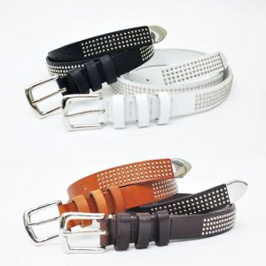 Womens Mulit Silver Studs Thin Belt-Belt 97
