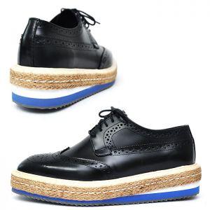 Black Wingtip Espadrille Brogue-Shoes 291