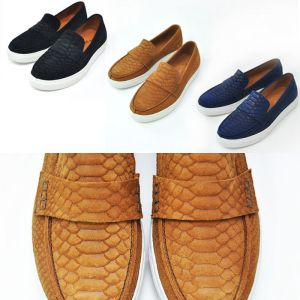 Snakeskin Suede Slipon Loafer-Shoes 292