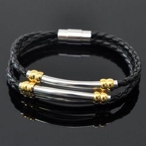 Magnetic Closure Cowhide Braided-Bracelet 150