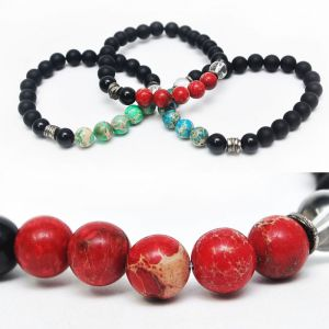 Destroyed Two Tone Gemstone Beads-Bracelet 163