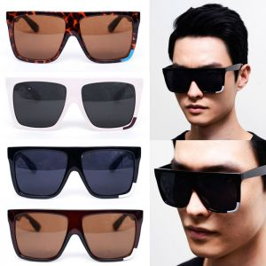 Oversized Square Frame Contrast Edge-Sunglasses 66