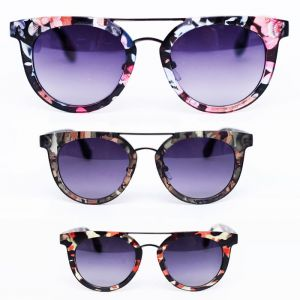 Trendy Flower Fabulous & Camo Graphic Round-Sunglases 69