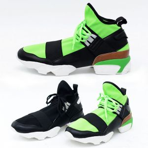 Futuristic Stretchy Mesh Top Sneakers-Shoes 317