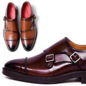 Gradation Burnish Lux Double Monk-Shoes 331
