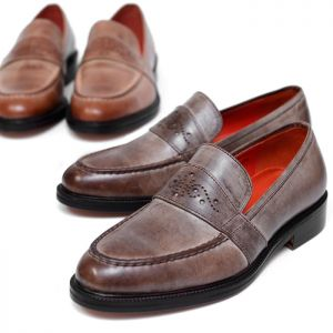 Gradation Fade Finish Custom Loafer-Shoes 332
