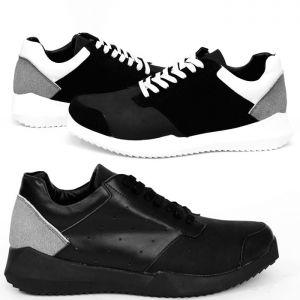 3cm Heel Designer Robo Cowhide Sneakers-Shoes 337