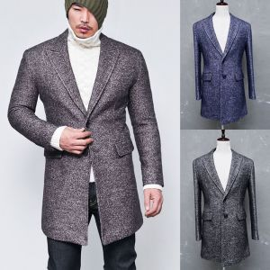 Top Notch Designer Wool Tweed Winter-Coat 69